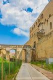 Elmo ` Castel Sant в Неаполь, Италии стоковое фото rf