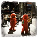 Elmo characters in Times Square Royalty Free Stock Images