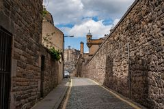 Eloddem vägg i Edinburg, Skottland Royaltyfri Bild