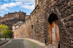 Eloddem vägg i Edinburg, Skottland Royaltyfria Bilder