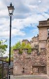 Eloddem vägg i Edinburg, Skottland Arkivfoto
