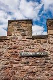 Eloddem vägg i Edinburg, Skottland Royaltyfria Foton