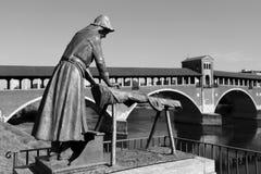 Elogio al washerwoman in Black&White Fotografia Stock Libera da Diritti