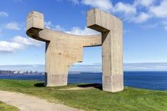 Elogio del horizonte en Gijón, España Fotografía de archivo