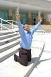 Elogio e vitória Fotos de Stock Royalty Free
