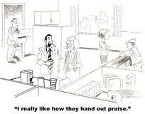 Elogio para empregados ilustração royalty free