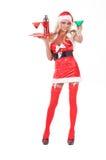 Elogios do bárman do Natal Fotografia de Stock