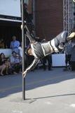 Eloize circus acrobat Royalty Free Stock Image