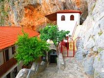Elona修道院在科斯马斯希腊 库存照片
