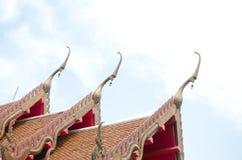The elongated and elaborately  Buddhist temple Stock Photo