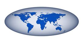 Elongated Globe Stock Image