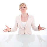 Eloquent woman pleading her case Stock Photos
