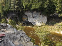 Elora Gorge. A view of the huge gorge in Elora, Ontario, Canada in the late summer last year Stock Image