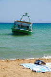 Eloro (near Siracusa in Sicily),  Immigrants Boat Stock Photography