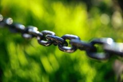 Elos de corrente do ferro Fotografia de Stock Royalty Free