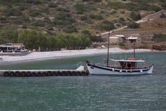 Elounda海滩 免版税图库摄影