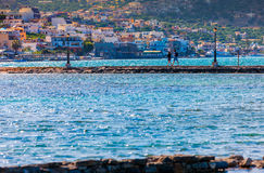Elounda. Elounda - village and resort in Greece in the Eastern Royalty Free Stock Image