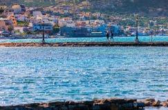 Elounda Elounda - wioska i kurort w Grecja w Wschodnim Obraz Royalty Free