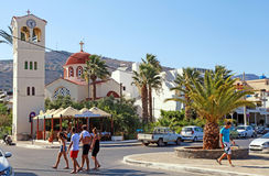 Elounda, Kreta, Griechenland Stockfotos