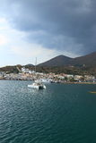 Elounda before rain Stock Photography