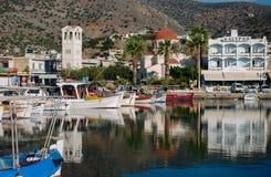 Free Elounda Village, Crete Greece. - 28 June 2018. Early Morning View Of The Center Of Elounda Stock Photo - 159906140