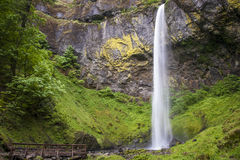Elowah秋天,哥伦比亚峡谷,俄勒冈 免版税图库摄影