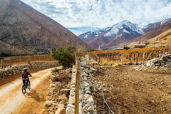 Elqui-Tal-Gebirgsradfahren Stockfotos