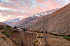 Elqui Valley Sunset Stock Image