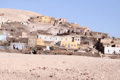 Elqurna village Luxor. Village on the west bank of the nile by luxor  in th south of Egypt Stock Photo