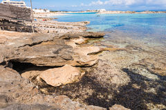Els Pujols coastline in Formentera Stock Photo