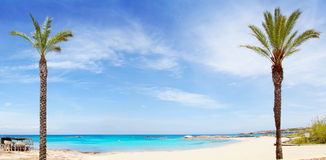 Els Pujols formentera beach with turquoise water Stock Photography