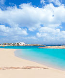 Els Pujols Formentera white sand turquoise beach Stock Image