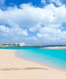 Els Pujols Formentera white sand turquoise beach Stock Image