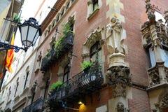 Els Quatre Gats,住处Martí,巴塞罗那,西班牙 免版税库存图片