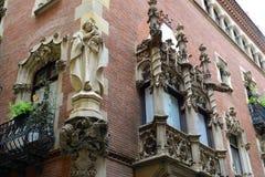 Els Quatre Gats Casa Martí, Barcelona, Spanien Royaltyfria Bilder