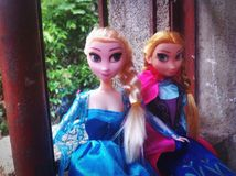 Elsa and Anna Royalty Free Stock Photography
