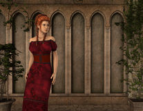 Elsa - Beautiful Medieval Lady of the Court - Image 1 Royalty Free Stock Photography