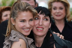 Elsa Pataky and Rossy de Palma. CANNES, FRANCE - MAY 15: Elsa Pataky and Rossy de Palma  attends the 'Homage To The Spanish Cinema' photocall at the Palais des Stock Image