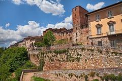` Elsa, Siena, Toskana, Italien Colle di Val d Ansicht vom mittelalterlichen Stockfotografie