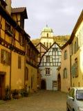 Elsass - Berkheim 5. Berkheim entrance to the city.Medieval city.wine Route.Romantik pur Stock Photo