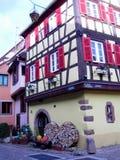 Elsass - Berkheim 1. Berkheim entrance to the city.Medieval city.wine Route.Romantik pur Stock Images