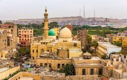 ElSayeda法蒂玛ElNabawaya清真寺在开罗 库存图片