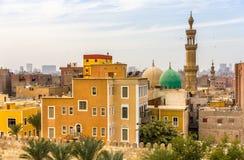 ElSayeda法蒂玛ElNabawaya清真寺在开罗 免版税库存照片