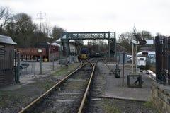 Elsecar arvjärnvägsstation & bussgarage, Elsecar, Barnsley, händelse för South Yorkshire 19th Februari 2017 vintervärmeapparat Arkivbild