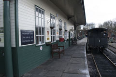 Elsecar Heritage Railway Station & Depot Stock Photo