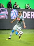 Elseid Hysaj during a match stock photos