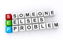elses problem someone Fotografia Stock