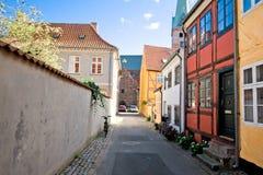 Elsinore ` s街道,丹麦 免版税库存图片