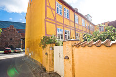 Elsinore ` s街道,丹麦 库存图片