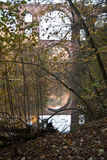 Elstertalbrucke z Weisse Elster rzeką blisko Plauen Fotografia Stock